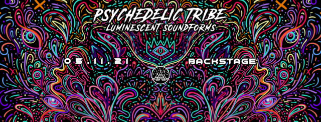 """Party Flyer Psychedelic Tribe """"Luminescent Soundforms"""" 5 Nov '21, 22:00"""
