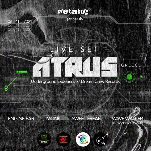 ATRUS Live in Lebanon 6 Nov '21, 22:00