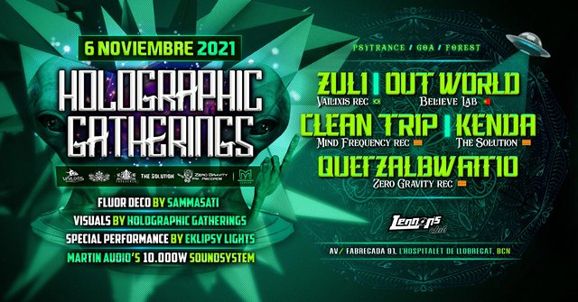 "Holographic Gatherings @ "" In Wonderland "" 6 Nov '21, 23:00"