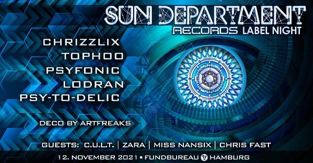 Sun Department Label Night & Friends 12 Nov '21, 23:00
