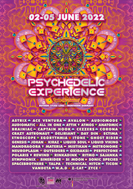 Party Flyer Psychedelic Experience Open Air Festival 2022 2 Jun '22, 14:00