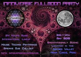 Infiniverse Full Moon Party 3 May '15, 12:00