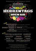 Party Flyer HERRENTAGS OA / BLIEVENSTORF - Symphonix, Ranji vs Ghost Rider, Class A, Mondero 14 May '15, 12:00