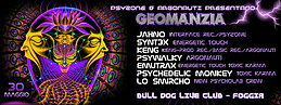 Party Flyer GEOMANZIA - 12 H Psychedelic Party - Psyzone & Argonauti 30 May '15, 22:00