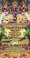 Party Flyer ☀ PSYBEACH 3. - mit UV SPLASH NEON BEREICH:) ☀ 5 Jun '15, 20:00