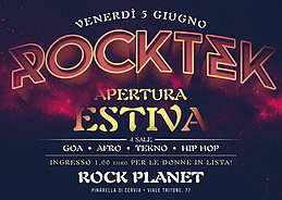 Party Flyer ROCKTEK - APERTURA ESTIVA - 4 SALE 5 Jun '15, 23:30