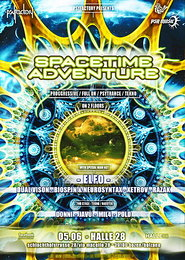 Party Flyer ▂ ▃ ▄ ▅ ▆ ▇ Spacetime Adventure ▇ ▆ ▅ ▄ ▃ ▂ with ELFO, DUAL VISION and many more 5 Jun '15, 21:00