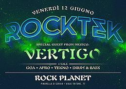 Party Flyer ROCKTEK - Special Guest: VERTIGO (Mexico) 12 Jun '15, 23:30