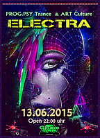 Party Flyer ELECTRA 13 Jun '15, 22:00