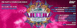 Party Flyer Pre-Party - VuuV Festival meets Stairs Club Zurich 13 Jun '15, 23:00