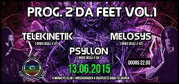 Party Flyer PROG.2 DA FEET VOL.1 presented by Orbis Oculi 13 Jun '15, 22:00
