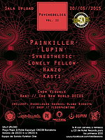 Party Flyer PSYCHEDELICS Vol .2 /// PAINKILLER // LUPIN // SYNESTHETIC \\\ 20 Jun '15, 23:00