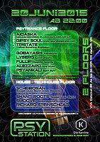 Party Flyer PSYSTATION@DIE KANTINE 20 Jun '15, 22:00