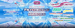 Party Flyer Psychedelic Mirrors: Astral Projection, Vibe Tribe, Bizzare Contact, Electro Sun 24 Jul '15, 18:00