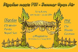 Party Flyer Digedax meets PHI - Summer Open Air – 15 Aug '15, 10:00