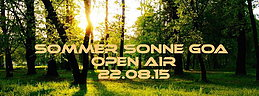 Party Flyer Sommer Sonne GOA Open Air 22 Aug '15, 13:00