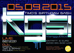 Party Flyer KGS-TIMO'S B-DAY BASH 2015 5 Sep '15, 22:00