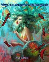 Party Flyer Virgo`s & Mermaids Birtdaybash 11 Sep '15, 22:00