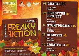 Party Flyer FREAKY FICTION 23 Sep '15, 23:00