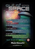 Party Flyer OUT OF SPACE@WEBERKNECHT 24 Sep '15, 22:00