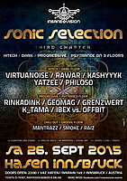 Party Flyer INSANE VISION pres. ★SONIC SELECTION★ on 3 Floors 26 Sep '15, 22:00