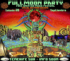 Party Flyer THE FULL MOON PARTY SPECIAL RED MOON EDICION 26 Sep '15, 22:00
