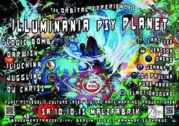 Party Flyer Illuminania psy Planet 2015 chapter2 10 Oct '15, 22:00
