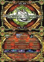 Party Flyer Northern Gateway mit ORCA, PENTA, KRAMA und extra Darkfloor 10 Oct '15, 23:00