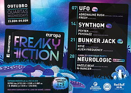 Party Flyer FREAKY FICTION 14 Oct '15, 23:00