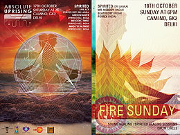 Party Flyer Absolute Uprising : Delhi / Fire Sunday 17 Oct '15, 07:00