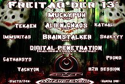 Party Flyer O_o FreiTag der 13th VS The PsyCedelic Family O_o The Underground is calling 13 Nov '15, 22:00