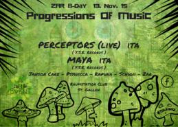 Party Flyer PROGRESSIONS OF MUSIC   ZAR B-DAY 13 Nov '15, 22:00