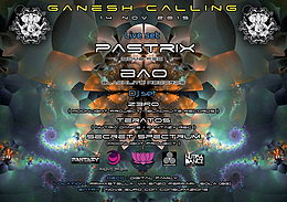 Party Flyer Ganesh Calling - Moonlight Project Psytrance Party @ Prima Stella ! 14 Nov '15, 22:00