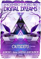 Party Flyer digital dreams 4 com OUTSIDERS 21 Nov '15, 22:00