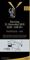 Party Flyer GaYme-Party die 3te. in der Bananenreiferei, 21.11.2015 21 Nov '15, 23:00