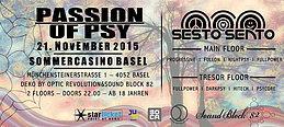 Party Flyer Passion of Psy mit SESTO SENTO @Sommercasino Basel 21 Nov '15, 22:00