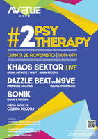 Party Flyer Psy Therapy #02 26. Nov. 15, 23:30