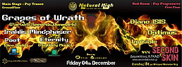 Party Flyer Natural High - Grapes of Wrath (Parvati,Denmark) - 2 stages 4 Dec '15, 23:30