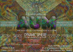Party Flyer AUM vol.2 - DYNAMIC SPHERE live - only psytrance (fullon/dark/prog) - LOW COST 11 Dec '15, 23:00