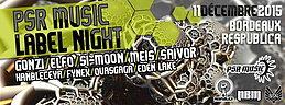 Party Flyer PSR MUSIC - LABEL NIGHT w// GONZI - ELFO - SI-MOON - MEIS @RESPUBLICA 11 Dec '15, 23:00