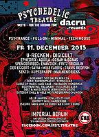 Party Flyer Psychedelic Theatre meets Dacru Records 11 Dec '15, 23:00