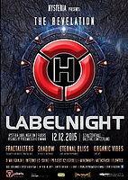Party Flyer Hysteria Label Night, the Revelation 12 Dec '15, 22:00