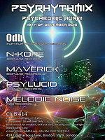 Party Flyer Psyrhythmix - Psychedelic Aura 18 Dec '15, 23:00