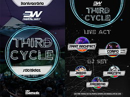 Party Flyer third cycle // 3º aniversario digital way // sao mamede c.a.e 19 Dec '15, 23:30