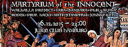 Party Flyer MARTYRIUM of the INNOCENT III 26 Dec '15, 23:00