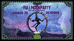 Party Flyer THE FULLMOON PARTY-TENERIFE SUR 26 Dec '15, 22:00