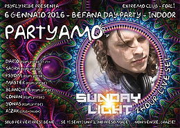 Party Flyer Partyamo vol4 befana day party special guess Sunday light live set 6 Jan '16, 12:00