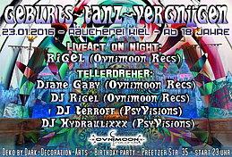 Party Flyer GeburtsTanzVergnügen 23 Jan '16, 23:00