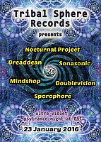 Party Flyer Tribal Sphere Records Party 23 Jan '16, 22:00