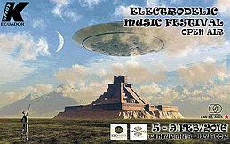 Party Flyer ★ Electrodelic Music Festival Open Air ★ 5 Feb '16, 15:00